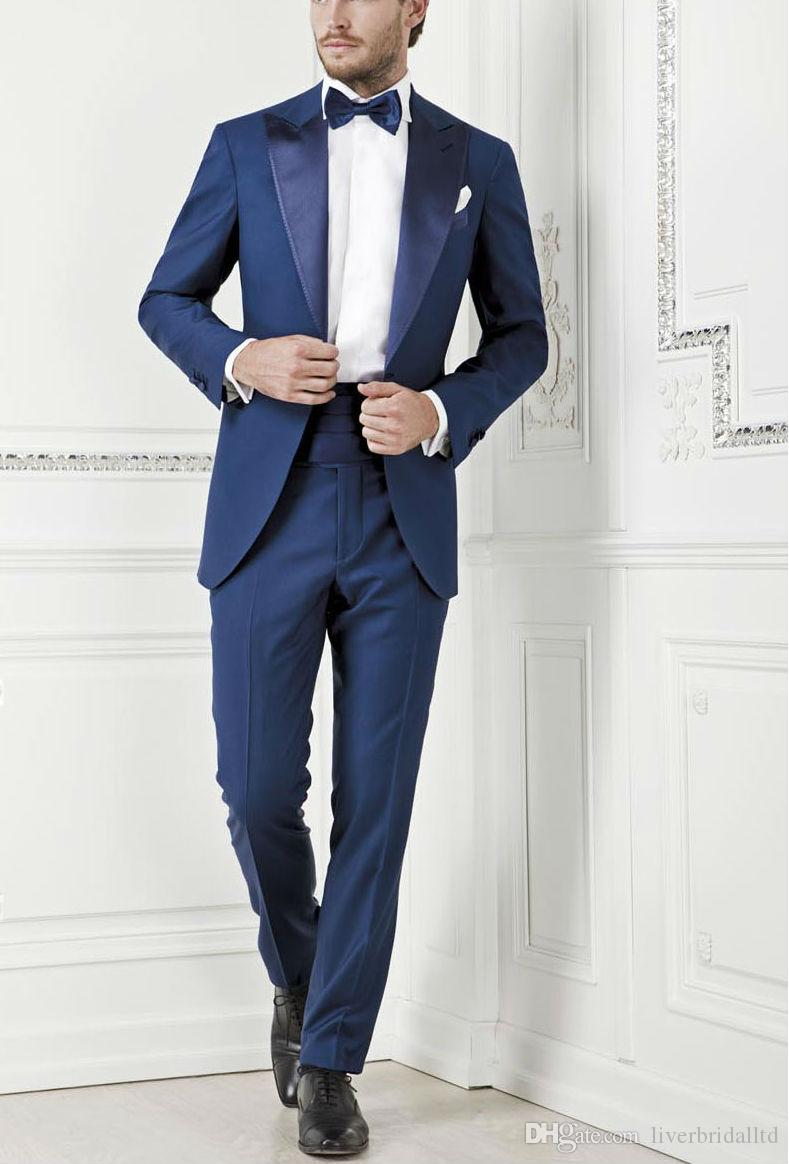 Royal Blue Suits With Brown Shoes