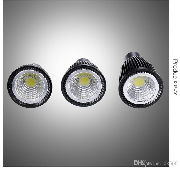 LED COB ampoule dimmable 6W 9W 12W haute lampe brillante GU10 E27 AC85-265V MR16 12V LED blanc froid Spotlight downlight