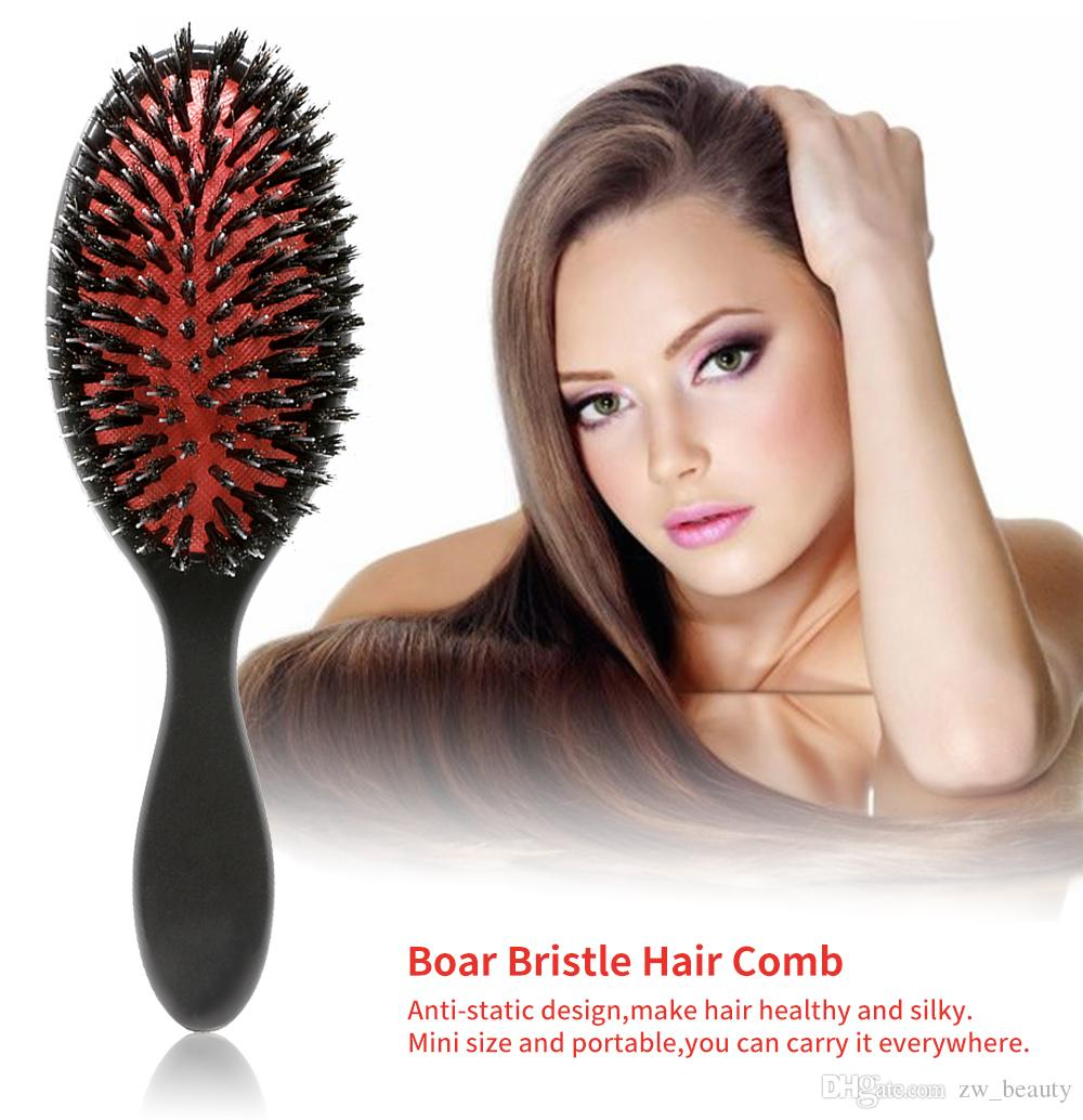 Boar Bristle Hair Extension Brush Combs Antistatic Cushion Paddle
