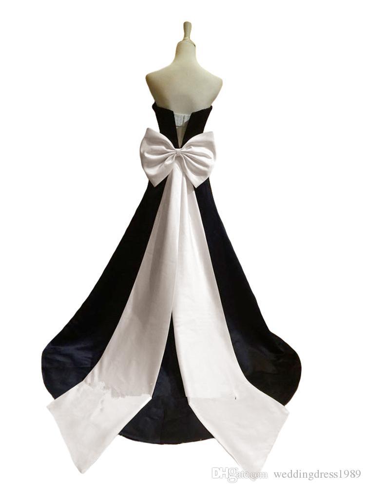 Art und Weise handgemachter Satinbogen-langer großer Brautgurt Vorrat preiswerte Hochzeit dressses Schärpen mit Bandhochzeitszusatz Freies Verschiffen