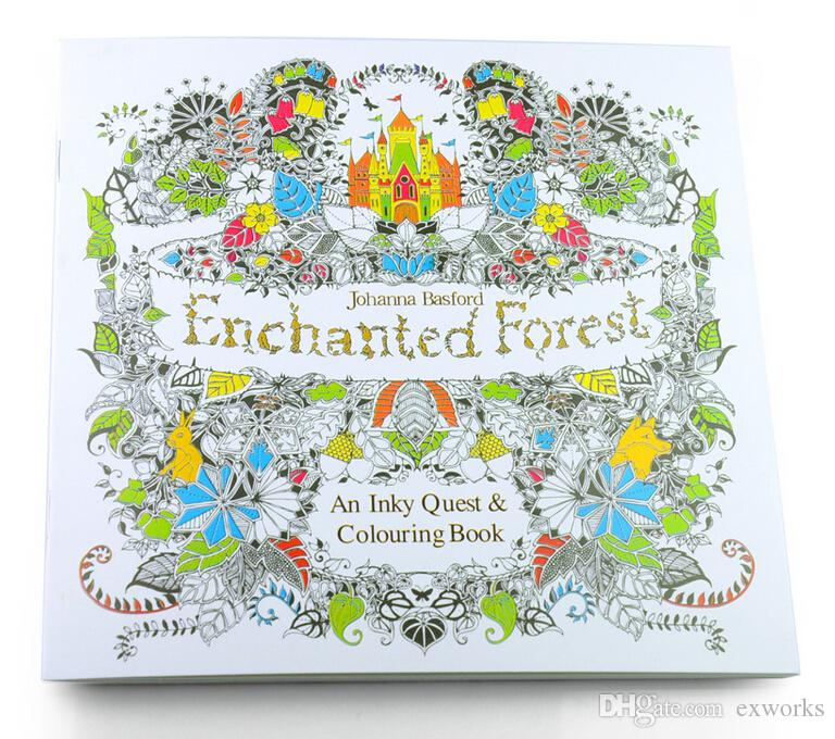 Secret Garden Lost Ocean An Inky Treasure Hunt And Coloring Book Enchanted Forest With Coloured Pencils Relax Graffiti Painting Dhl For