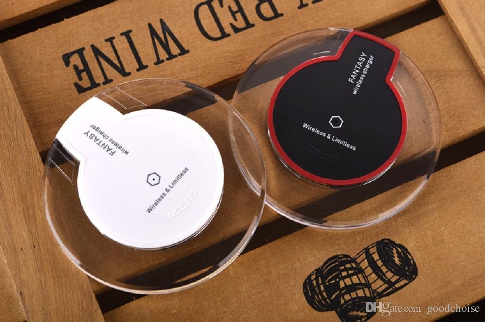 Qi Carregador sem fio de carregamento para Samsung S6 Borda S7 borda Fantasia alta pad Eficiência para a Samsung Mobile com pacote de varejo
