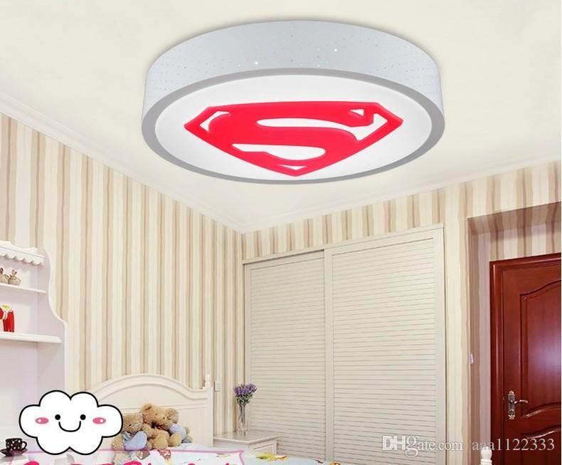 superman creative childrens room modern bedroom lamp led ceiling lights fixtures cartoon boy and girl room lights - Modern Bedroom Lighting Ceiling
