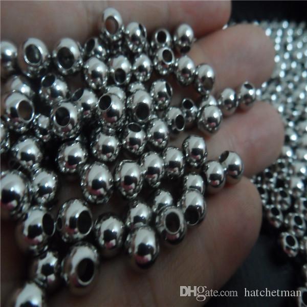 4/5/6/8 mm Alta Ricerca di gioielli in acciaio inossidabile perline sfaccettate lucide