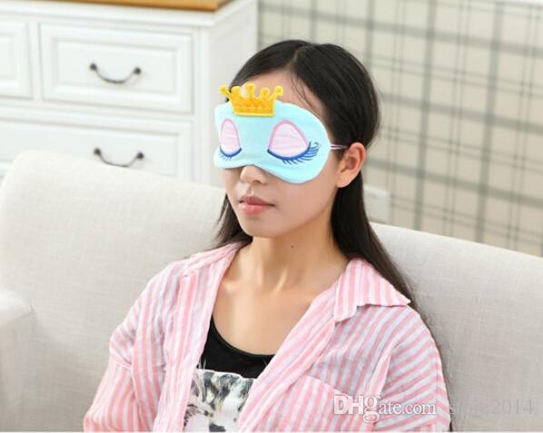 Novo Portátil Lindo Lindo Algodão Longo Cílios Coroa Estilo Sombra de Olho Dormindo Máscara de Olho 2 ccolor opcional