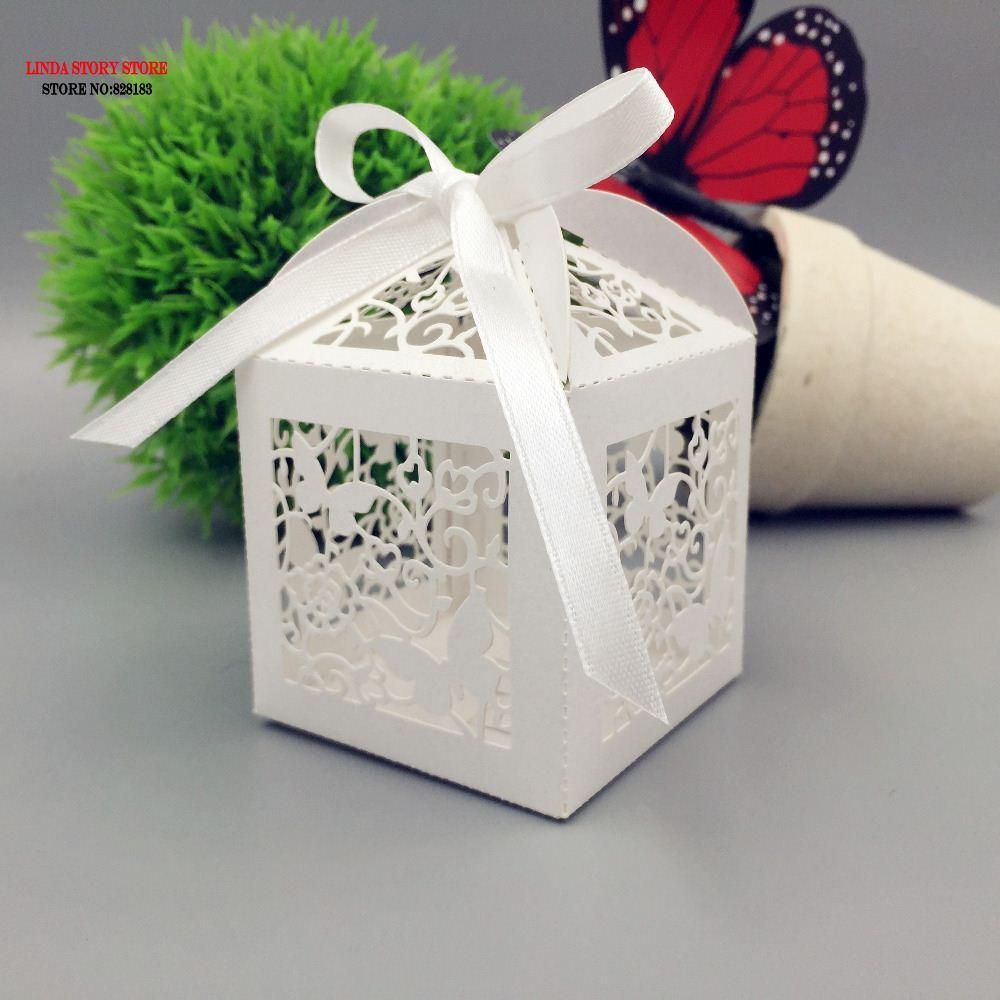 Online Cheap Big Size Laser Cut Butterfly Wedding Favor Box In Pearl ...