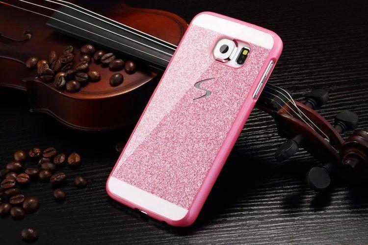 LG G4 Funda Bling S line Estuches Sparkle glitter polvo brillante cubierta de PC para Samsung Galaxy s4 s5 s6 edge plus note 3 4 5 LG G3 G4 caliente