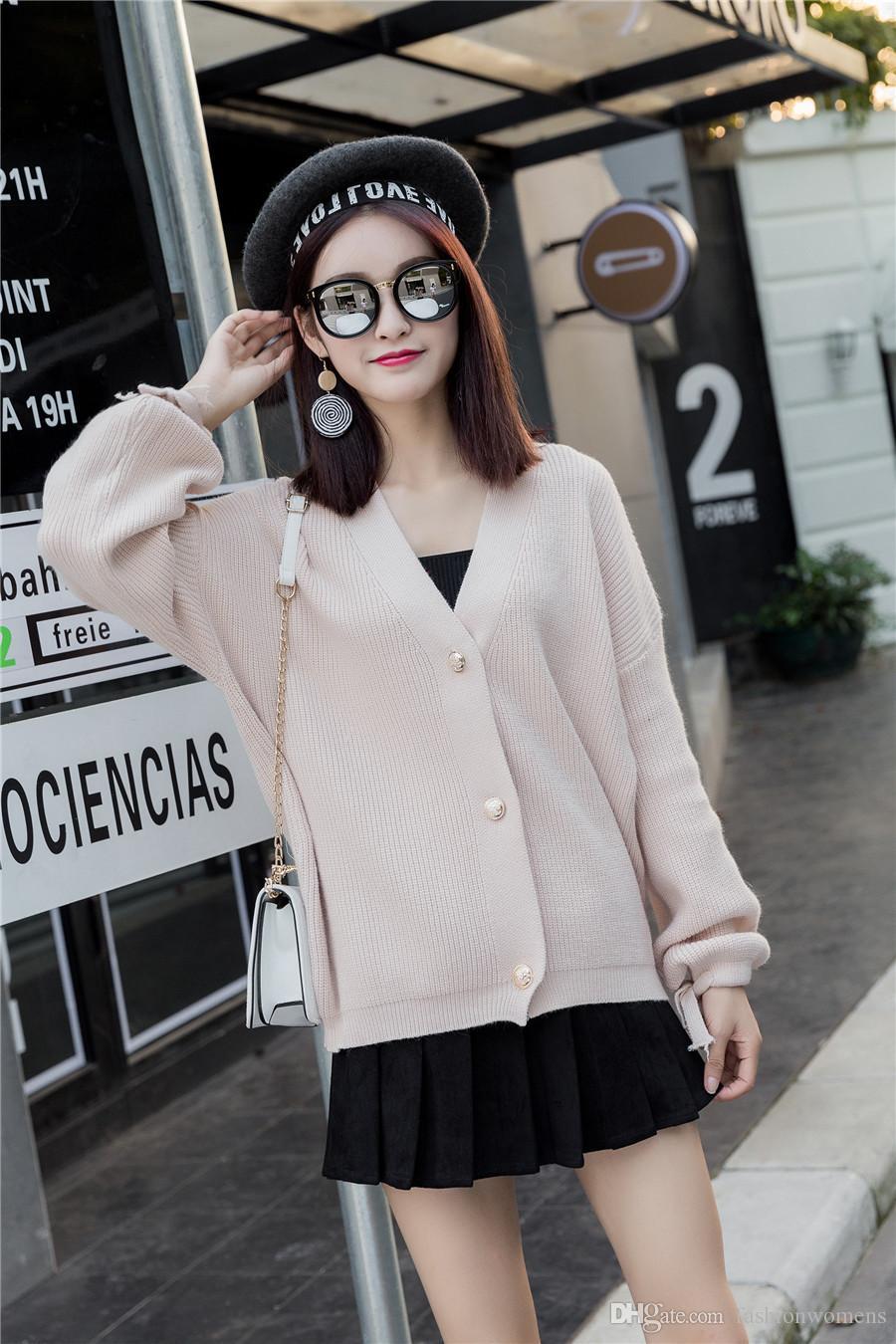 Compre Nueva Moda Ee. Uu. Suéteres De Las Mujeres De Punto Cardigans ...