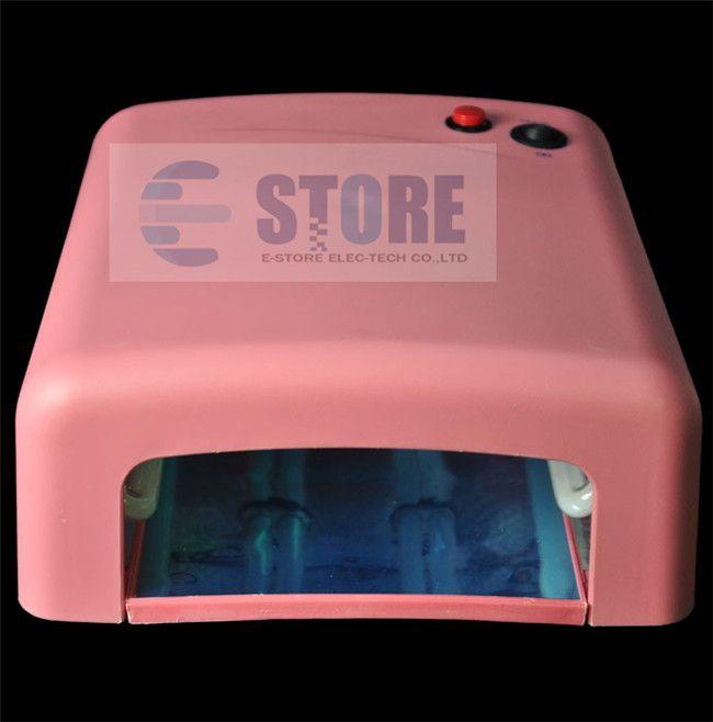 Gorąca sprzedaż Professional Pro 36W Żel UV Różowa Lampa 12 Kolor Gel UV Nail Art Narzędzia Zestawy Zestawy, DHL, WU