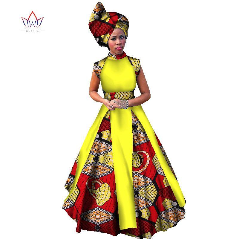 Floor Length African Dresses Women Summer Dress Brazil ...