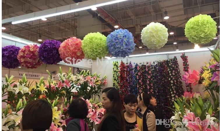 2017 Silk Rose Wedding Flower Hanging Ball Decorations Floral