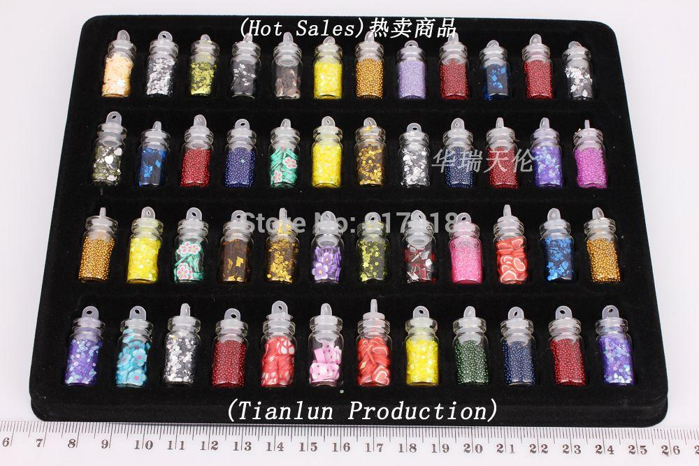 Wholesale 48 Bottles Nail Art Sequined Tips Decoration Tool Arcylic