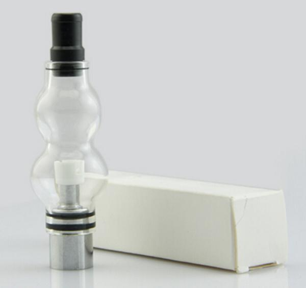 Gourd Glass Globe Atomizer Dry Herb Vaporizer Wax Vapor Tank with Ceramic Coil Head for eGo EVOD Herbs E Cigarettes Gourd Glass Clearomizer