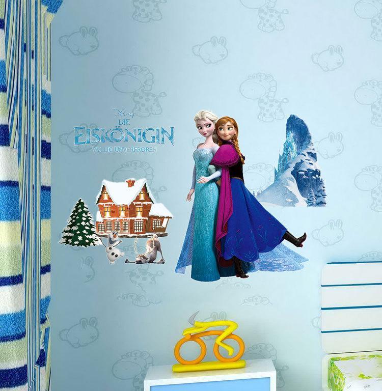 Cartoon Frozen Wall Stickers Decals Home Décor Removable Frozen Queen Elsa  Olaf Wall Decals For Kids Children Room 6 Style Wall Sticker Frozen Queen  Wall ...