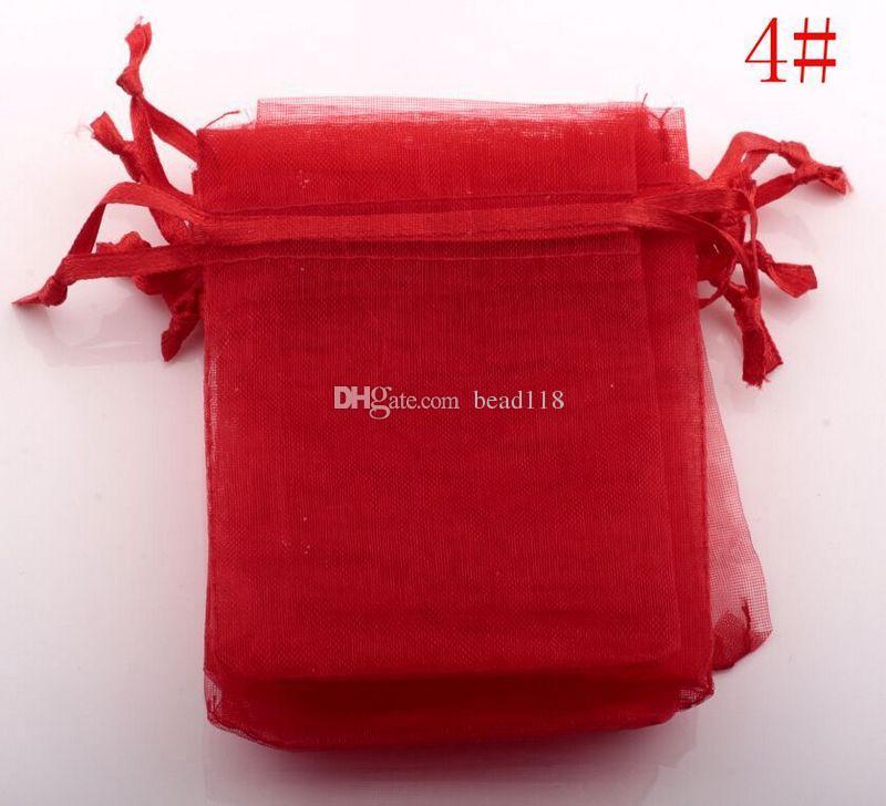 Gorące wyprzedaże ! 500 sztuk biały itp. 20-kolorowe torby na prezenty organzy, 7x9cm .9x12cm .13x18 cm. Ze sznurkiem