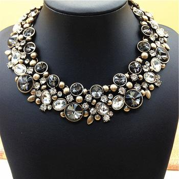 europe usa big fashion women necklaces vintage crystal