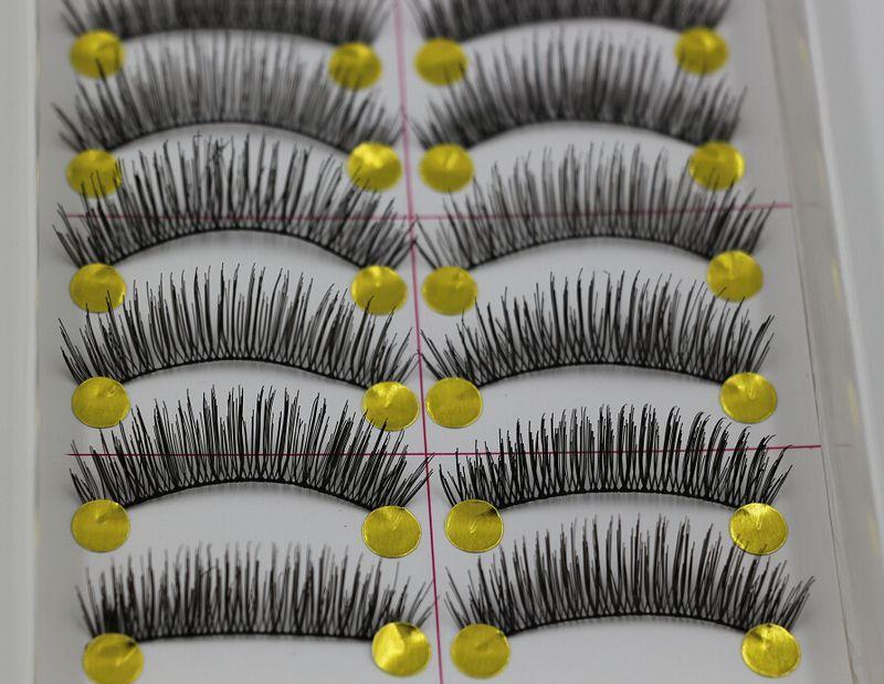 Heta! 20 par långa övre krulla mjuka falska ögonfransar Svart handgjorda sminkförlängningar