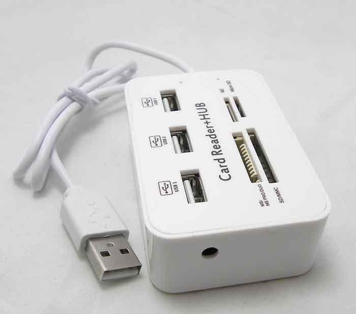 Alta qualità Nuovo Micro USB Hub Combo 2.0 3 Porte Lettore di schede Multi USB ad alta velocità Splitter Hub USB Combo Tutto in uno PC Computer DHL