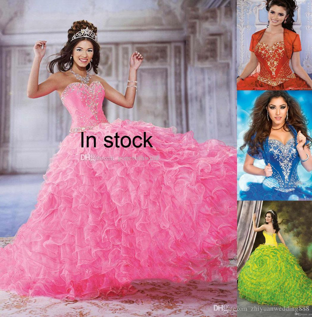 Royal Blue Puffy Princess Quinceanera Dresses 2018 Vestido De Noiva ...