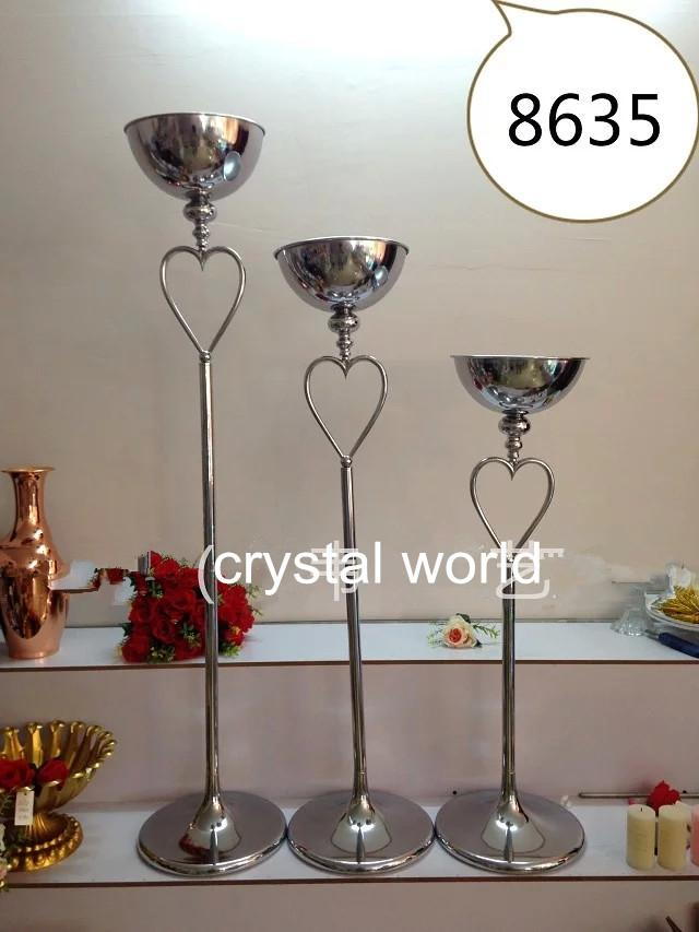 Mental tall flower stand centerpieces floor standing