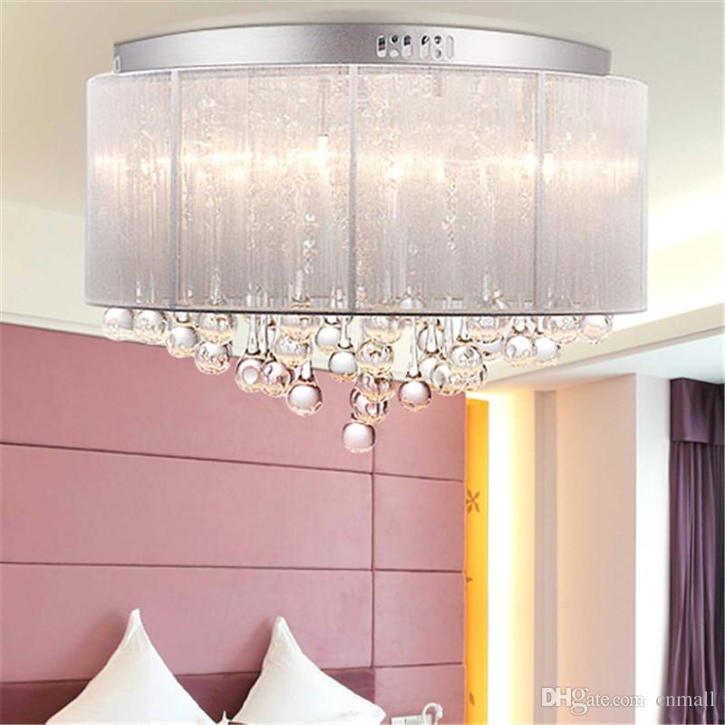 Crystal Ceiling Light Crystal Pendant Lamp Modern Fashion White ...