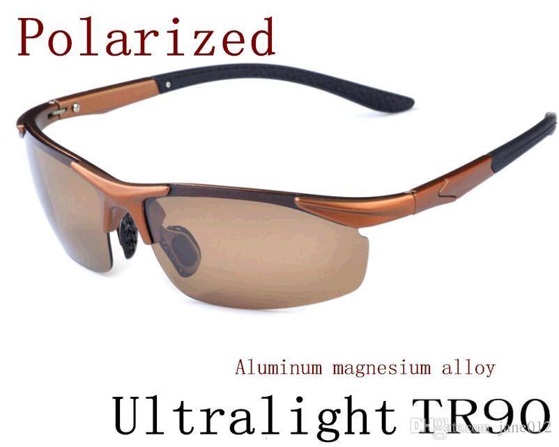 07f13d0f4a New Men Polarized Driving SunGlasses Titanium Sun Glasses Brand Designer  Fashion Oculos Male Sunglasses Semi-Rimless TR90 A-H Aluminum Magnesium  Alloy ...