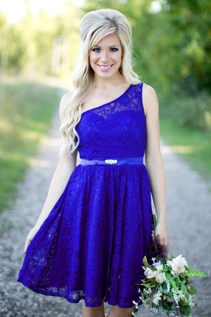 Lace bridesmaid dresses royal blue maid of honor dress for country lace bridesmaid dresses royal blue maid of honor dress for country wedding party one shoulder 2016 spring beach lady gowns big discount girl bridesmaid ombrellifo Image collections