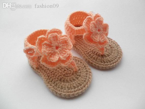 Großhandel Großhandels Handmade Baby Sandalen Häkeln Kleinkind