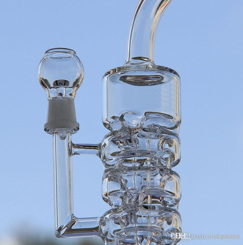 Hitman Glass Water Bong Oil Rigs With Glass Bowl Hottest Two Functions Hookahs glass pipe with 14.4mm joint