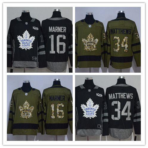 2017 18 Men S Ice Hockey The Edition Jerseys Toronto Maple Leafs  16 Mitch  Marner  34 Auston Matthews Black Army Green UK 2019 From Guomy88888 eee449615