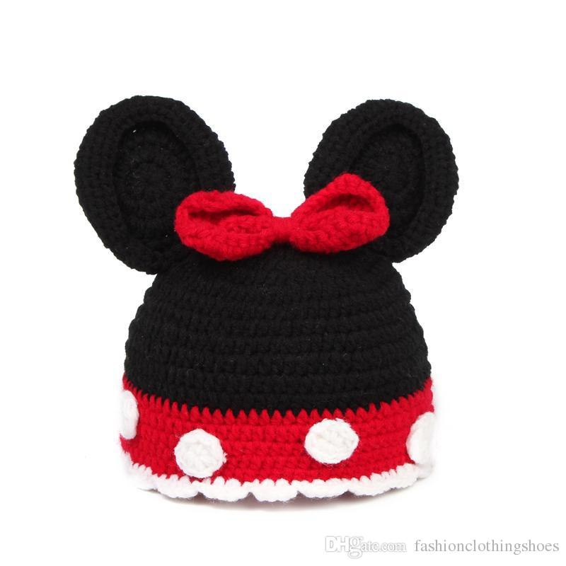Cute Baby Newborn Nursling Photo Photography Props Costume Handmade Crochet Knitted Hat Cartoon Animal Head Beanie Cap Mix Styles