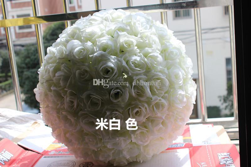 12 İnç yapay çiçekler düğün bahçe pazar dekorasyon için top Düğün ipek Pomander Öpüşme Topu çiçek top süslemeleri gül çiçek