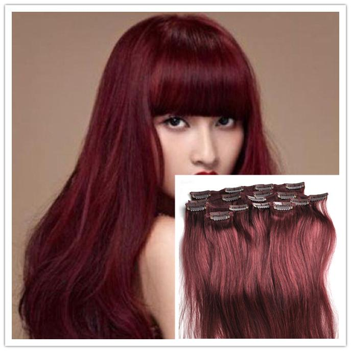 100 human hair clips in extensions brazilian virgin hair straight 100 human hair clips in extensions brazilian virgin hair straight ombre 99j burgundy hair extensions7pcsset clip in human hair extension pmusecretfo Image collections