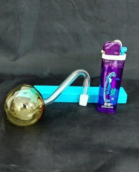 Mayoristas de envío gratis ----- 2015 nuevo Color S bullous olla de vidrio 10 * 4.5 cm, accesorios de bong de narguile / vidrio, color aleatorio