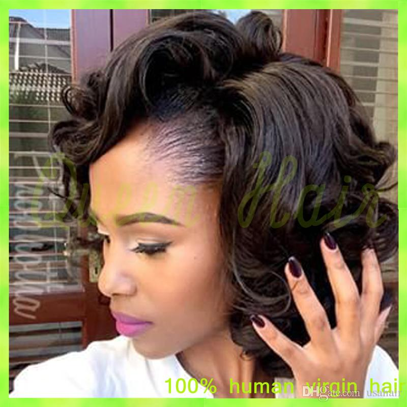 Brazilian Afro Kinky Curly Lace Front Wigs 8A Glueless Full Lace Human Hair Wigs For Black Women With Baby Hair