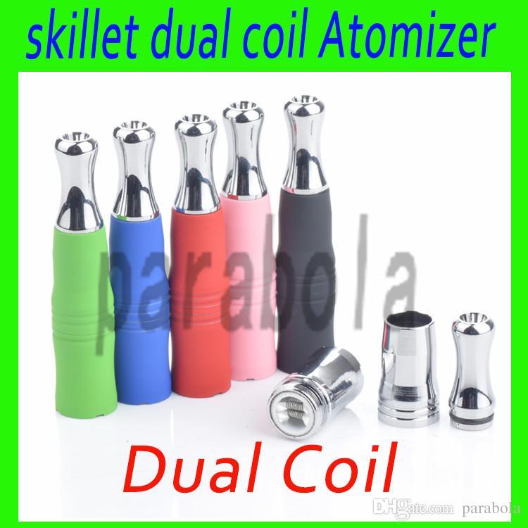 Ego wax atomizer dual coil wax vaporizer skillet vape pen ceramic heating coil vaporizer atomizer dual heating coils wax burner cig