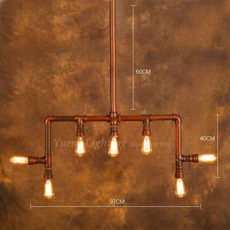 loft industrial style cafe bar lamp retro creative personality conduit water pipe pendant. Black Bedroom Furniture Sets. Home Design Ideas