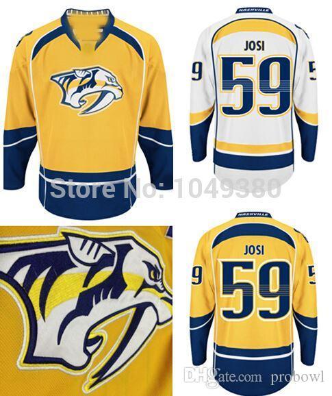 best website 94455 996d9 Men's Nashville Predators #59 Roman Josi Jersey Home Yellow Road White  Alternate Navy Blue Cheap Wholesale Ice Hockey Jerseys