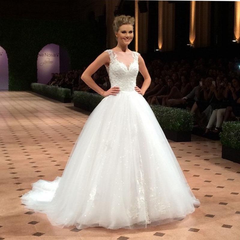 Vestidos De Noiva Robes De Mariage Robes De Mariée Nouveaux Designers Printemps Jardin Dentelle Sheer Applique Hiver Robes de mariée d'hiver