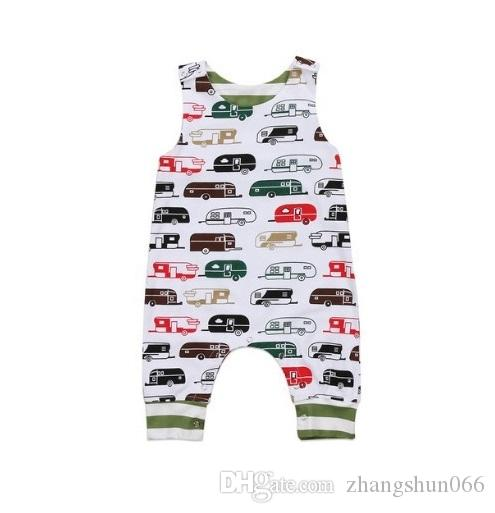 954aa90c64b8 2018 Baby Jumpsuits Boys Girls Cartoon Car Babies Rompers Clothing ...