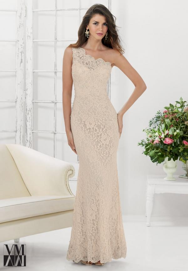 Romantic One Shoulder Lace Mother Of Bride Dress Ivory 2015 Sheath ...