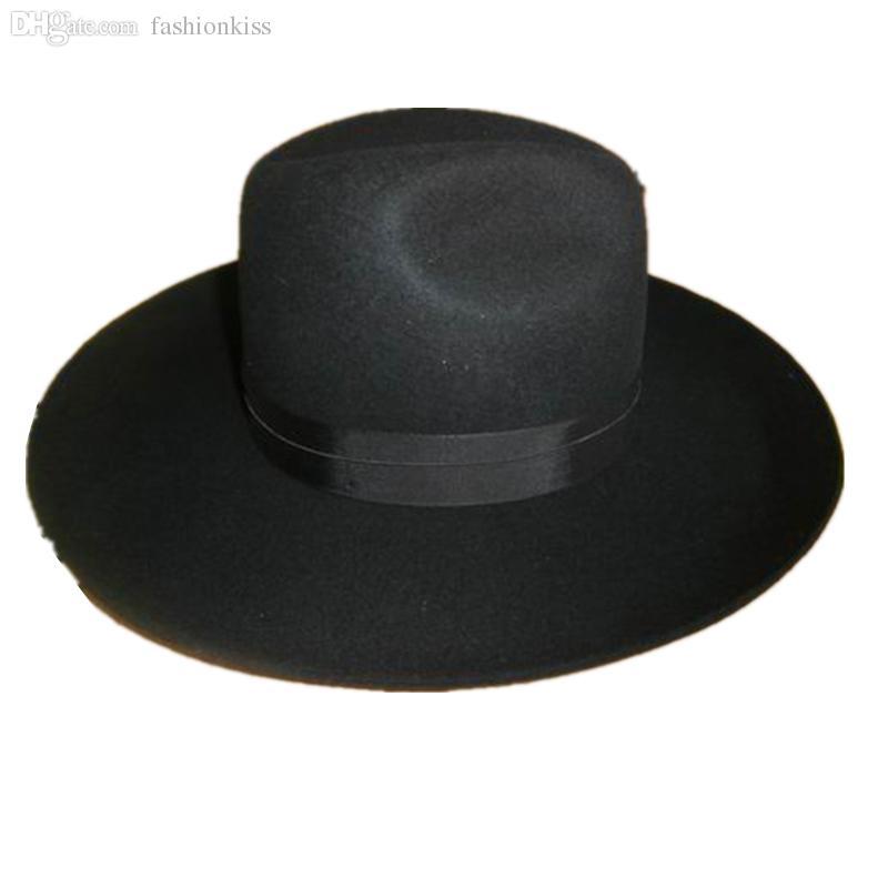 Compre Atacado Israel Judaica Hat   Wass Hasidic Jew Fedora Cap + Aba Larga  10 Cm De Fashionkiss 4854f771bbd