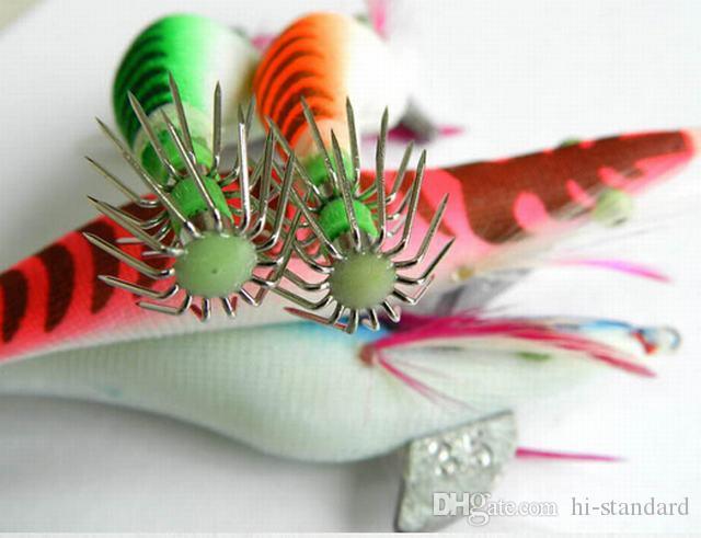 HOT 13.5CM / 19.8g 5.31in / 0.7oz الروبيان الحبار هوك Luninous Squids الرقص الأخطبوط هوك Deepwater عالية الجودة!
