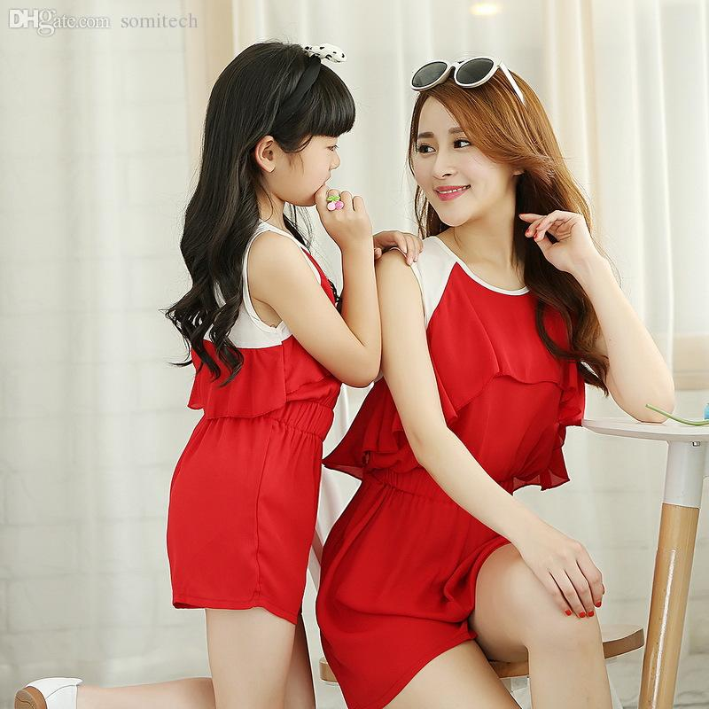 Wholesale 2015 Summer Style Babymmclothes Matching Mother