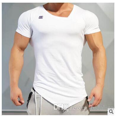 Marca Golds Sporting de manga curta de Fitness T-Shirt de Musculação Vestuário fit Camisa de Compressão Homens gyms T Shirt Plus Size