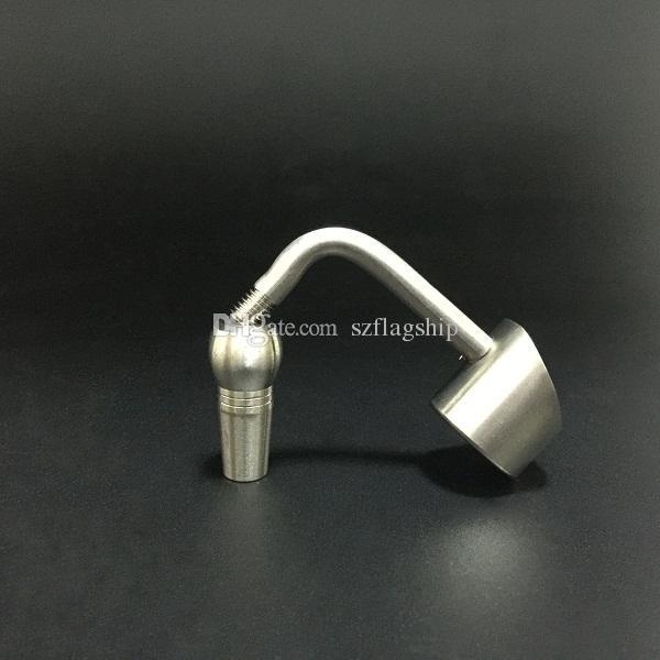 DHL free 90 degree Honey Bucket Titanium Nail 10mm 14mm 18mm Male or Female Joint Titanium Nails for Glass Bong VS Quartz Nail