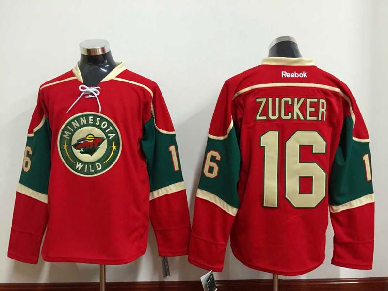 minnesota wild 16 jason zucker red jersey f9ddef977