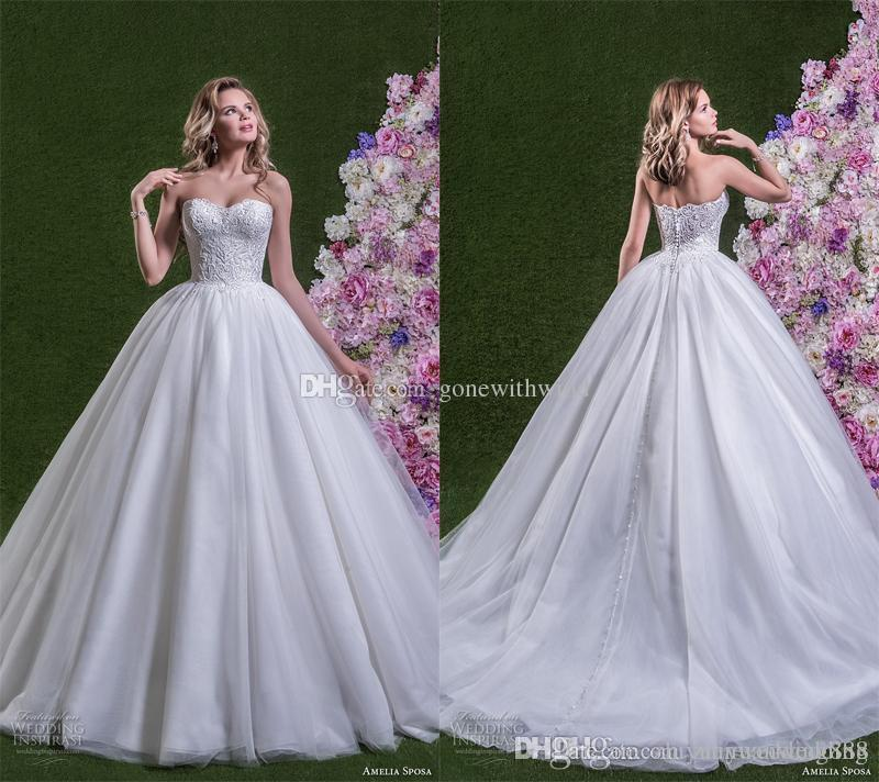 Discount Princess Ball Gown Wedding Dresses 2018 Amelia Sposa Bridal ...