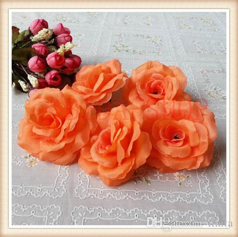 8cm Silk Rose Flower Heads for Wedding Party Decorative Artificial Simulation Silk Peony Camellia Rose Flower