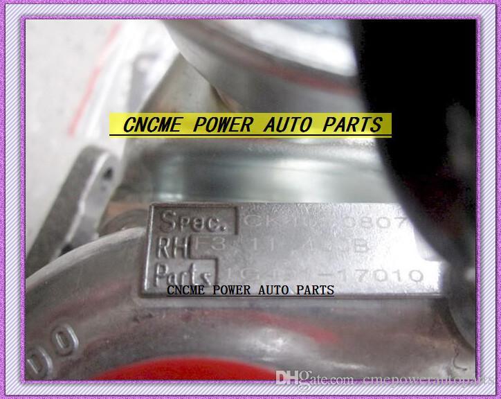 TURBO RHF3 1G491-17010 CK40 VA410164 1G491-17011 1G49117012 Turbocompresseur Pour Kubota Excavatrice PC56-7 Bobcat Tracteur 4D87 V2403-M-T-Z3B